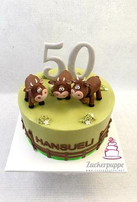 Kühe mit Schellen zum 50. Geburtstag von Hansueli