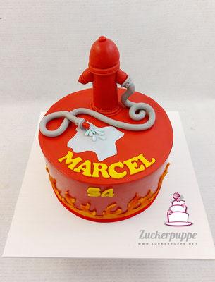 Feuerwehrtorte zum 54. Geburtstag von Marcel
