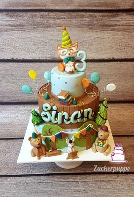 Tierparty - Torte zum 3. Geburtstag von Sinan