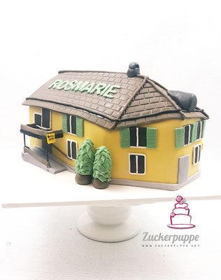 Zum 58. Geburtstag von Rosmarie gab es Ihr frisch Renoviertes Restaurant Frohsinn als Torte