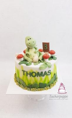 Dino-Torte zum 3. Geburtstag von Thomas