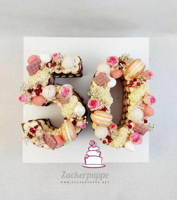 Numbercake zum 50. Geburtstag von Konstantina