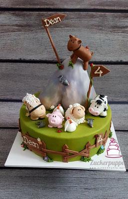 Bauernhoftiere zum 4. Geburtstag von Dean