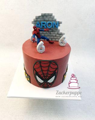 SpidermanTorte zum 6. Geburtstag von Aron