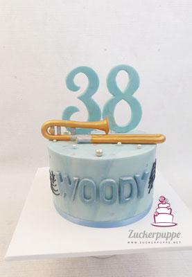 Posaune zum 38. Geburtstag von Woody