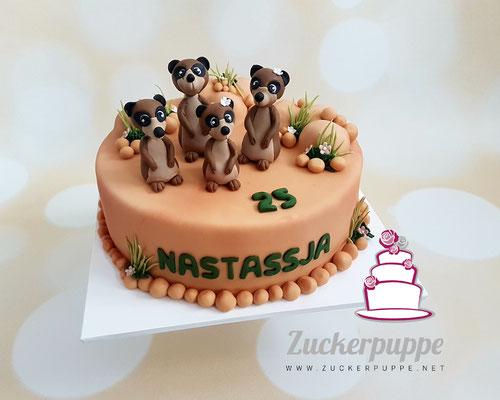 Erdmännchen - Torte zum 25. Geburtstag von Nastassja