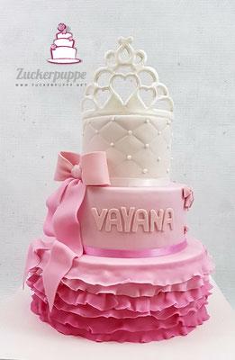 Prinzessinnen-Torte zur Taufe von Vayana