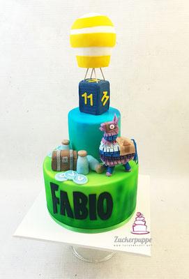 Fortnite - Torte zum 11. Geburtstag von Fabio
