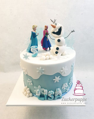 Frozen - Torte zum 5. Geburtstag von Lisa