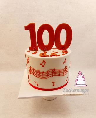 Musik - Torte zum 100. Geburtstag von Gottfried