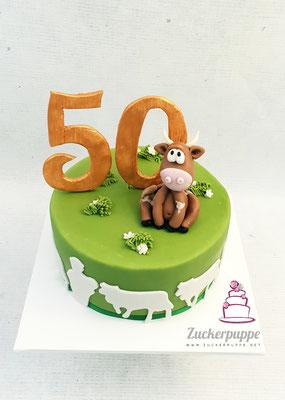 Eine kleine Kuh zum 50. Geburtstag von Hans-Konrad