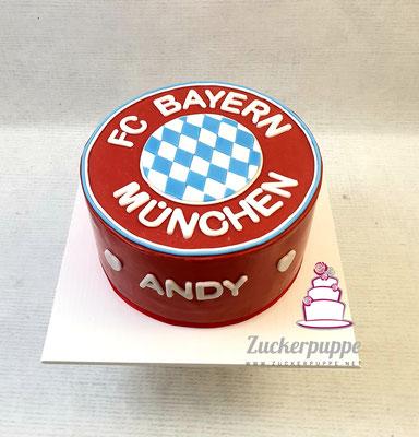 Bayern München Torte zum 49. Geburtstag von Andy