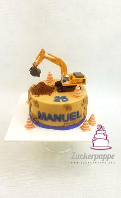 Baggertorte zum 25. Geburtstag von Manuel