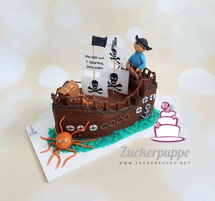 Nochmal ein Piratenschiff - dieses mal zum 5. Geburtstag von Andrin