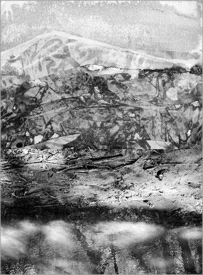Fil de l'eau 13. Montage photographique, impression jet d'encre contrecollée sur dibond, 70 x 50 cm.