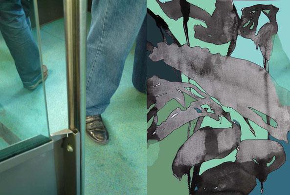 Oxymore 12 montage contrecollé sur aluminium 60 x 40 cm
