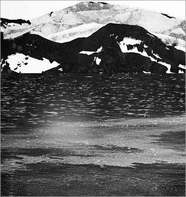 Fil de l'eau 45. Montage photographique, impression jet d'encre contrecollée sur dibond, 70 x 50 cm.
