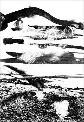 Fil de l'eau 20. Montage photographique, impression jet d'encre contrecollée sur dibond, 70 x 50 cm.