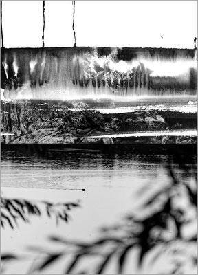 Fil de l'eau 7. Montage photographique, impression jet d'encre contrecollée sur dibond, 70 x 50 cm.