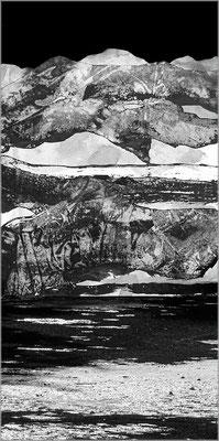 Fil de l'eau 42. Montage photographique, impression jet d'encre contrecollée sur dibond, 70 x 50 cm.
