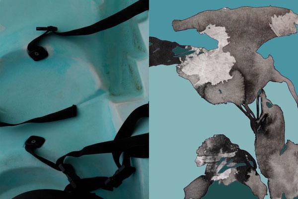 Oxymore 6 montage contrecollé sur aluminium 60 x 40 cm