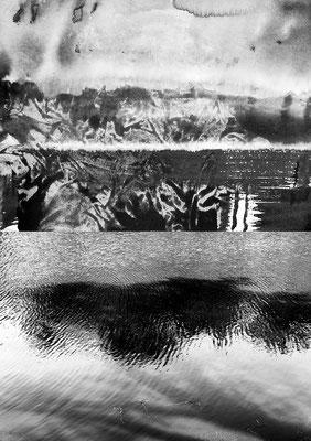 Fil de l'eau 47. Montage photographique, impression jet d'encre contrecollée sur dibond, 70 x 50 cm.