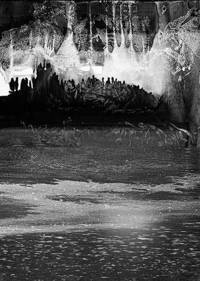 Fil de l'eau 49. Montage photographique, impression jet d'encre contrecollée sur dibond, 70 x 50 cm.