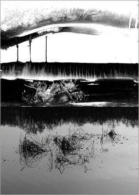 Fil de l'eau 12. Montage photographique, impression jet d'encre contrecollée sur dibond, 70 x 50 cm.