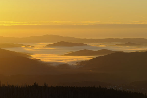 Sonnenaufgang am Lusen, NP Bayerischer Wald (D)
