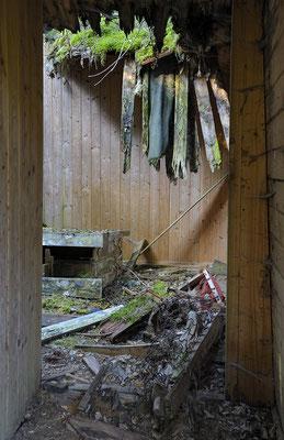 Alte Hütte von Moorbauern, Lienzinger Moos