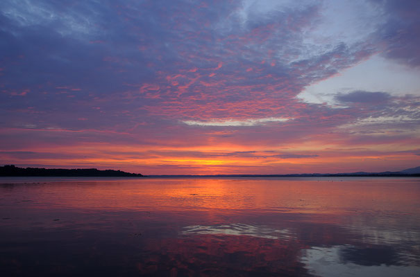 Sonnenaufgang bei Prien