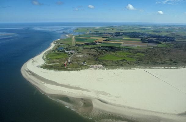 Nordspitze von Texel mit Leuchtturm