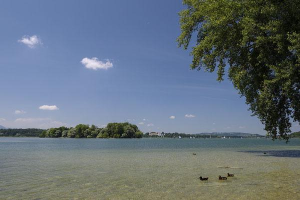 Blick von der Fraueninsel zur Krautinsel