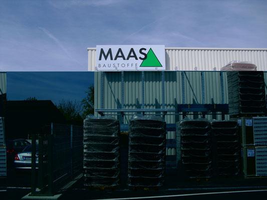 Blickwerbung Crailsheim - Werbeschild für Maas im Kreis Schwäbisch Hall
