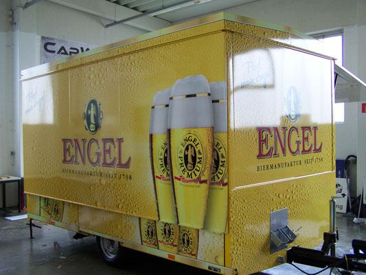 Engel - Trailer Werbung, LKW Beschriftung Transporter und Firmenbeschriftung, Vollverklebung - Blickwerbung aus Crailsheim
