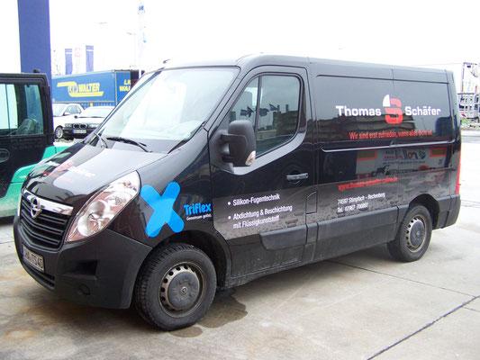 Transporter und Firmenbeschriftung, Fahrzeugfolierung, Car Wrapping, Fahrzeugbeschriftung - Blickwerbung aus Crailsheim