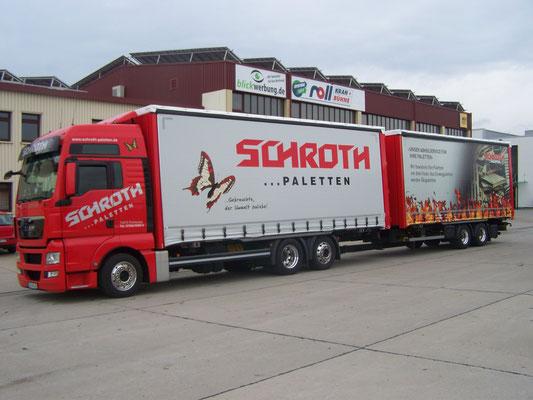 LKW Beschriftung Transporter und Firmenbeschriftung, Teilbeklebung und Vollverklebung Schroth - Blickwerbung aus Crailsheim