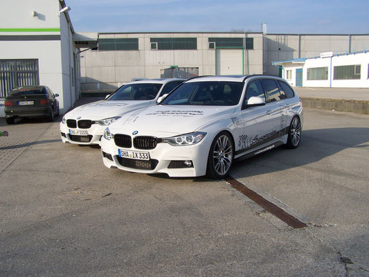 Autoaufkleber BMW Firmenbeschriftung, Fahrzeugfolierung, Car Wrapping, Fahrzeugbeschriftung - Blickwerbung aus Crailsheim