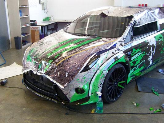Ford Focus RS - von blau auf Digitaldruck-Design - grün, weiß, schwarz - Work in Progress