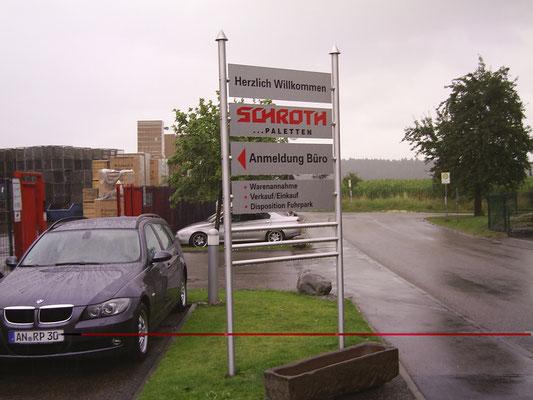 Blickwerbung Crailsheim - Schilderträger, Werbeschild, Schild im Kreis Schwäbisch Hall