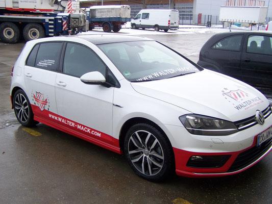 Autoaufkleber VW Golf - Firmenbeschriftung, Fahrzeugfolierung, Car Wrapping, Fahrzeugbeschriftung - Blickwerbung aus Crailsheim