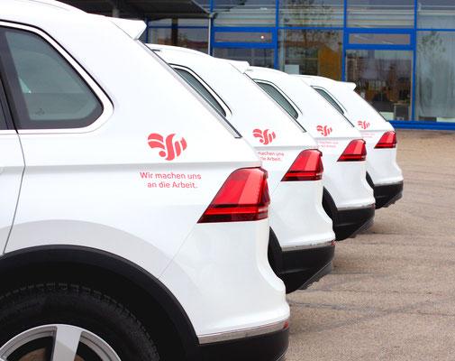 Flottenbeschriftung, Fahrzeugfolierung, Car Wrapping, Fahrzeugbeschriftung - Blickwerbung aus Crailsheim