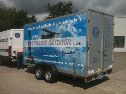 Trailer Werbung, LKW Beschriftung Transporter und Firmenbeschriftung, Firmenwerbung Vollverklebung - Blickwerbung aus Crailsheim