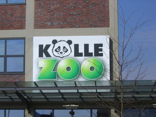 Blickwerbung Crailsheim - Werbeschild für Kölle Zoo im Kreis Schwäbisch Hall