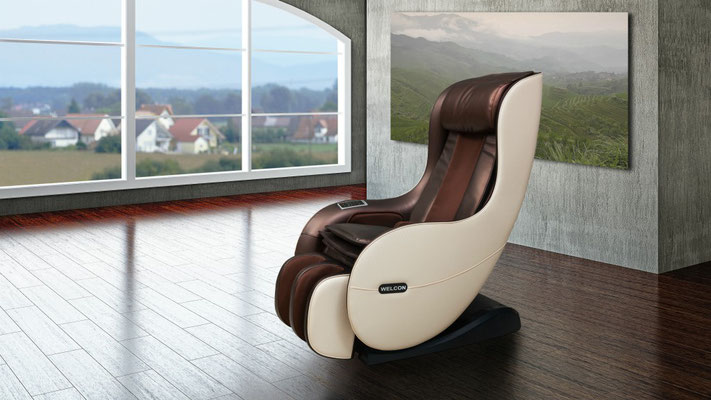 Massagesessel WELCON EASYRELAXX in weiß braun