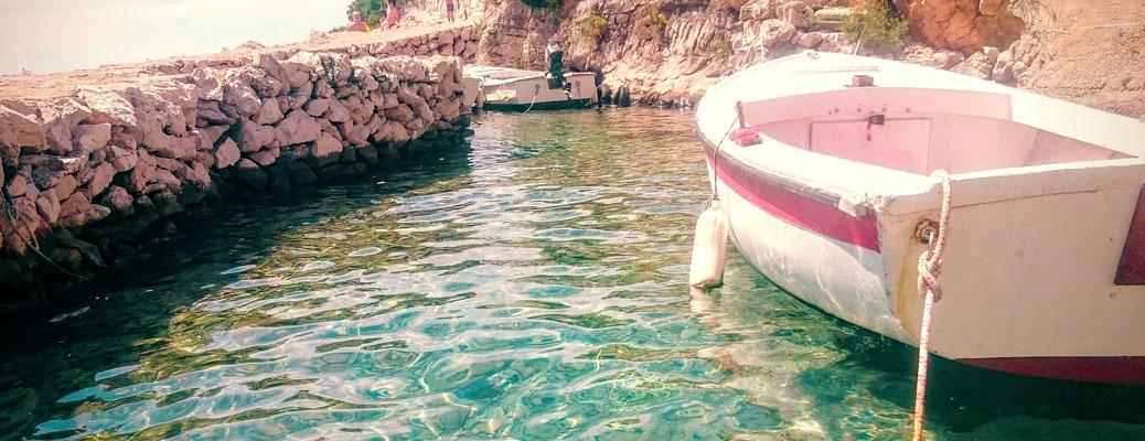 Les pieds dans l'eau turquoise...