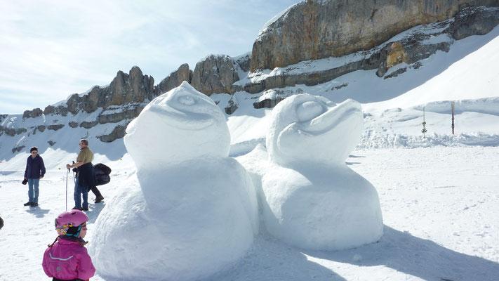 Schneefiguren beim Hohen Ifen