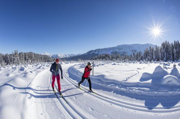Langlaufen auf der Schwendeloipe 12 Km