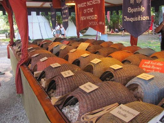 Markt auf der Medeltidsveckan in Visby auf Gotland