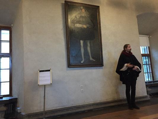 Führung im Schloss in Örebro